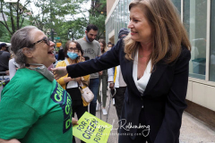 Kathryn Garcia at a New York City Democratic Mayoral Candidate Pre Debate Rally along Columbus Avenue before his first debate on ABC TV