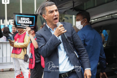 Ydanis Rodriguez City Council Member from the 10th District, at a New York City Democratic Mayoral Candidate Pre Debate Rally along Columbus Avenue before his first debate on ABC TV