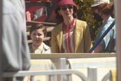 NEW YORK   The Cast of The Marvelous Mrs. Maisel films season 4 in Coney Island Amusement park. The show in set in the late 1950's to the early 1960's Marin Hinkle