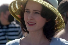 NEW YORK   The Cast of The Marvelous Mrs. Maisel films season 4 in Coney Island Amusement park. The show in set in the late 1950's to the early 1960's Rachel Brosnahan