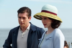 NEW YORK   The Cast of The Marvelous Mrs. Maisel films season 4 in Coney Island Amusement park. The show in set in the late 1950's to the early 1960's Michael Zegen , Rachel Brosnahan