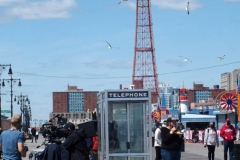NEW YORK   The Cast of The Marvelous Mrs. Maisel films season 4 in Coney Island Amusement park. The show in set in the late 1950's to the early 1960's