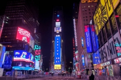 New York City December 31 , 2020  New Years Eve for the first time since the beginning of the tradition of the Ball drop no revelers were allowed in Times Square due to the corona virus