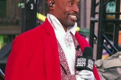 New York City December 31 , 2020  New Years Eve for the first time since the beginning of the tradition of the Ball drop no revelers were allowed in Times Square due to the corona virus. Billy Porter