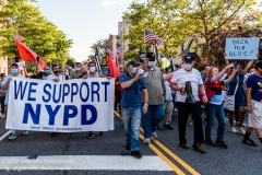 State Senator Marty Golden marches with supporters of the NYPD in Brooklyn, New York, on July 12, 2020. ((Photo by Gabriele Holtermann)