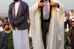 New York City Mayor Bill de Blasio  delivers remarks at the Eid UI-Adha prayer in Brooklyn, New York.  Early morning  outdoor prayer service.