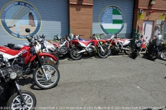 NEW YORK, 5/20/21: Prior to a press conference Thursday at the 33rd Precinct, the NYPD displayed some of the illegal dirt bikes seized recently. Credit: ©2021 Robert Roth
