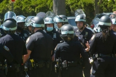 New York- New York City Police Department personnel train for riot control in a local park in the Marine park section of Brooklyn