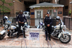 Two Highway Division motorcycle officers will be among the police officers on patrol starting Friday.