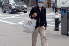 Walk About in Manhattan.  People wearing masks, not wearing masks and wearing them improperly.