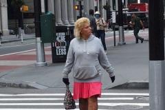 Walk About in Manhattan.  People wearing masks, not wearing masks and wearing them improperly.