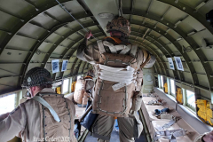 Farmingdale, NY, June 12, 2021 --, the American Airpower Museum's WWII Douglas C-47 Skytrain Troop Transporter gives an unforgettable flight experience to celebrate the start of summer and a return to normalcy  from the Covid 19 pandemic .  where reenactors take you up in an original WWII C-47 to get a sense of what the 101st and 82nd Airborne Division Paratroopers felt on their incredible 1,200-plane D-Day assault.