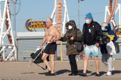December 27 , 2020     Coney Island Polar Bears go for their weekly swim. The outside Temperature was 25 degrees and the water temperature was 47 degrees.