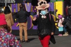 December 27 , 2020    Tourist walk around times square enjoying the brisk weather