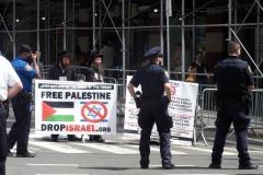 New York- United Against Antisemitism United Against Terror.  Coast - to - Coast Pro-Israel Rally held in Manhattan.