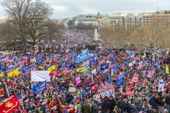 Washington, DC - January 6, 2021: Pro-Trump protesters rally around Capitol building before they breached it and overrun it