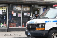 Wednesday, March 17, 2021 Level One Robbery Staten Island, NY  J & K Discount Store, at 195 Port Richmond Avenue, was robbed this morning.  The perp was  believed to have fled on foot, according to reports.  Police called for a Level 1 Mobilization.  Police inside the window began an evidence collection.