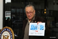 New York - U.S. Senate Majority Leader Charles Schumer Holds a Press Conference to ask the CDC to deploy 1 Billion Dollars for a national blitz to educate,Conduct outreach & build more confidence in civid vaccinations across cities and states
