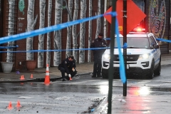 ShootingSaturday, February 17, 2021Bay and Wave StreetsStapleton, Staten IslandPolice guard scene of shooting as Evidence Collection Team works at the location.
