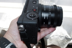 Sigma FP camera with the Sigma 45mm f2.8 lens in my small hand