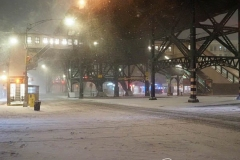 Broadway on The Upper West Side of Manhattan is virtually empty as the biggest storm in several years falls down. More than a foot of snow is expected in the area.