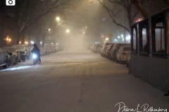 The Upper West Side of Manhattan is virtually empty as the biggest storm in several years falls down. More than a foot of snow is expected in the area.