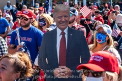 Trump supporters gather for a pro-Republican and pro-Law and Order rally on Staten Island, New York on October 3, 2020.  The rally comes a day after President Trump was hospitalized for COVID-19. (Photo by Gabriele Holtermann/Sipa USA)