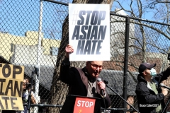 New York - Stop the Hate rally held in Columbus Park in Chinatown neighborhood of  Manhattan elected officials and residences protest the attacks on Asian people in New York City and around the country. U.S. Senator  Charles Schumer spoke to the crowd as well as other elected officials.