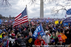 Thousands of President Donald Trump supporters listen to him speak as they stand on The Ellipse in Washington, D.C., Wednesday, Jan. 6, 2020, as they came together and  protest the electoral college certification of President-Elect Joe Biden.