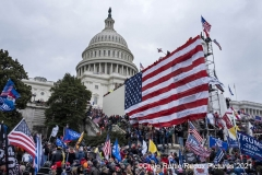 Thousands of supporters of President Trump hold the grounds after storming the United States Capitol in Washington, D.C., Wednesday, Jan. 6, 2020, as they protest the electoral college certification of President-Elect Joe Biden.