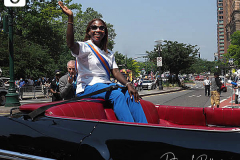 Grand marshal Sandra Lindsay, the first person in the United States to receive an approved COVID-19 vaccine, attends the Hometown Heroes Ticker-tape Parade along the Canyon of Heroes on July 7, 2021 in New York. The parade included a variety of different floats, representing the groups of essential workers who served this city heroically throughout the pandemic.