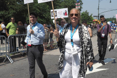 27th Borough President Gale Brewer attends the Hometown Heroes Ticker-tape Parade along the Canyon of Heroes on July 7, 2021 in New York. The parade included a variety of different floats, representing the groups of essential workers who served this city heroically throughout the pandemic.