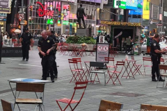 """Time Square Chaos Panic in Times Square after knocked-over planter possibly confused for gunfire  After investigation, police determine no shots fired at Times Square  Sources tell NYPPA there was a dispute between a man and a group of people around 6 p.m.  That's when, police say, a barrier or planter on the street fell over, creating a loud noise.  The man was placed under arrest for possession of marijuana and removed by EMS.  Times Square has been the scene of several shootings in recent months.  Republican mayoral candidate Curtis Sliwa came to the scene. """"It's the Wild Wild West in Times Square,"""" he said. """"You gotta wonder, people all the over world see these reports."""""""