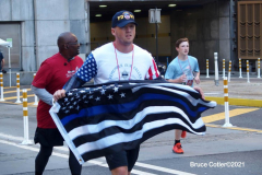 New York,  September 26, 2021 20th Tunnel 2 Tower Run. Runners start in Brooklyn run thru the Hugh L. Carey Tunnel and end the run by the Freedom tower in Manhattan.