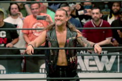 Pictured: Chris Jericho  Wrestlers from AEW (All Elite Wrestling) fought each other in the ring under the roof of Arthur Ashe Stadium in Flushing NY on September 22, 2021 during a live televised broadcast of AEW Rampage: Grand Slam. (Photo by Andrew Schwartz)