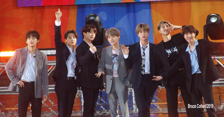 BTS Performs on Good Morning Americas's Concert Series