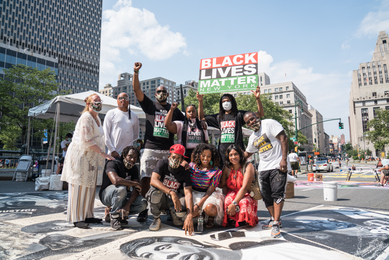 Black Lives Matter Press Conference for New Mural at Foley Square