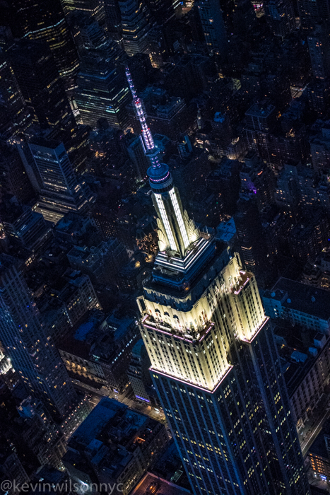 Helicopter ride over NYC during Covid19.