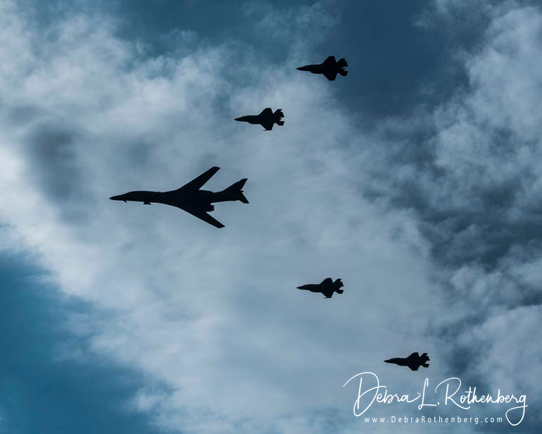 Military Aircraft Fly Over NYC