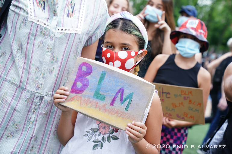 Kids Protest: 2020-All over the city Kids are seen participating and marching with Black Lives Matter against police brutality after the killing of George Floyd in Minnesota