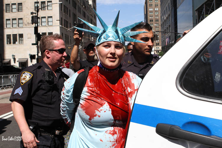 Black Lives Matter Mural Damaged by Lady Liberty