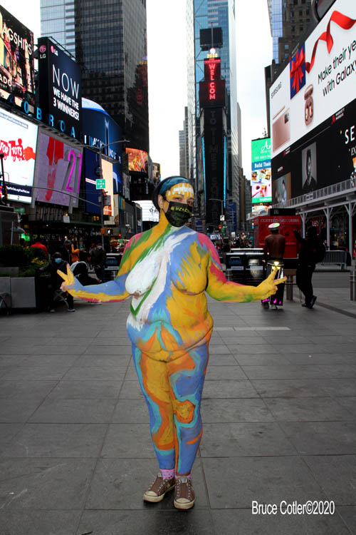 Times Square Walk About/ Human Connection Arts Body Painting