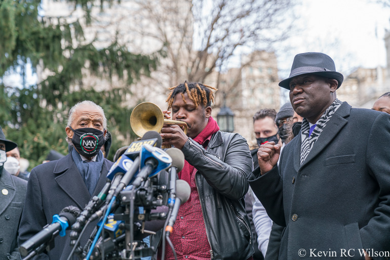 Press conference at City Hall Park for the Keyon Harrold Jr incident