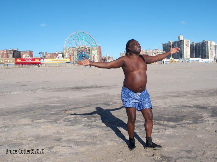 Coney Island Polar Bear weekly swim and Boardwalk