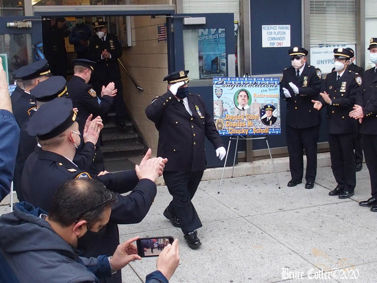 Chief Scholl's NYPD Walkout Ceremony