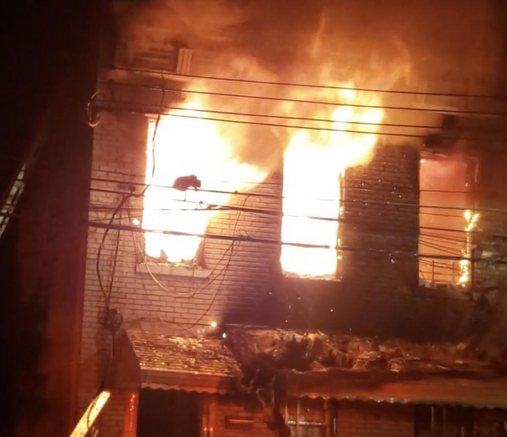 Fire in Astoria, Queens