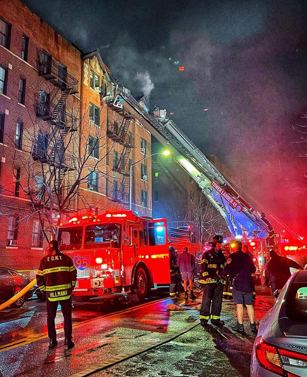 Four Alarm Fire on Post Ave in Inwood, Manhattan