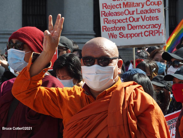 Myanmar/Burma Protest Foley Square