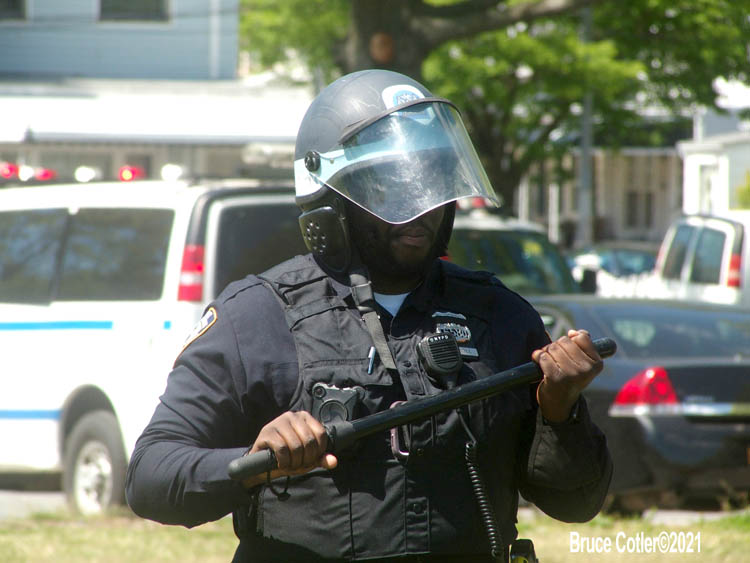 NYPD  Training in Riot Control in Brooklyn