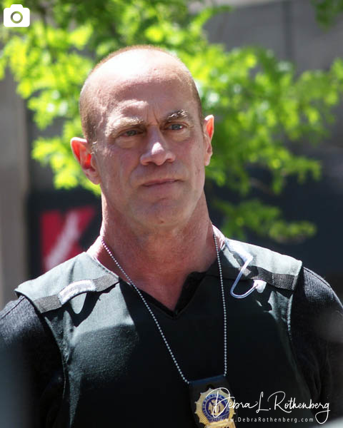 """Christopher Meloni on the set of """"Law and Order: Organized Crime"""" in Manhattan"""